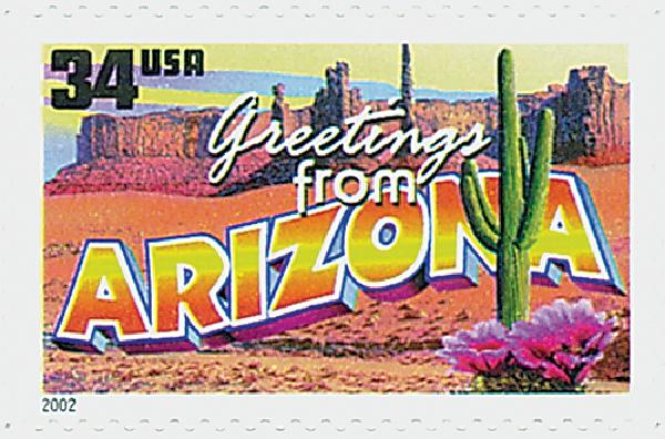2002 34c Greetings From America: Arizona