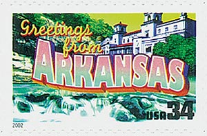 2002 34c Greetings From America: Arkansas