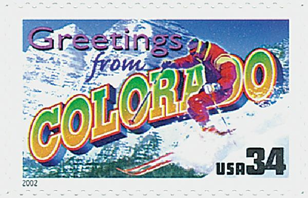 2002 34c Greetings From America: Colorado
