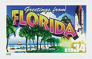2002 34c Greetings From America: Florida