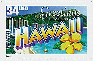 2002 34c Greetings From America: Hawaii