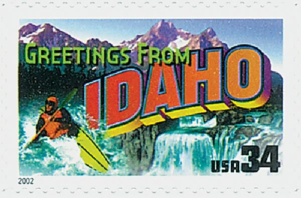 2002 34c Greetings From America: Idaho