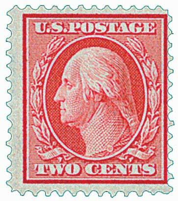 1909 2c Washington, carmine