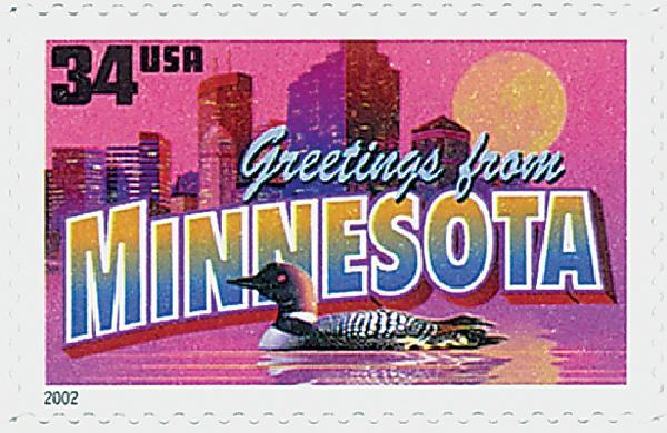 2002 34c Greetings From America: Minnesota