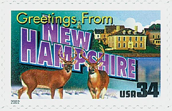 2002 34c Greetings From America: New Hampshire