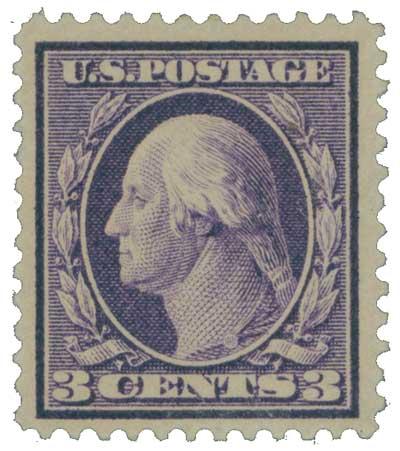 1909 3c Washington, deep violet, type I