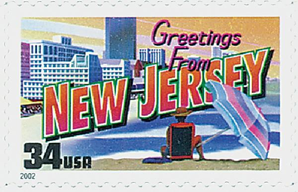 2002 34c Greetings From America: New Jersey