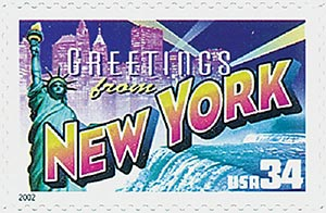 2002 34c Greetings From America: New York