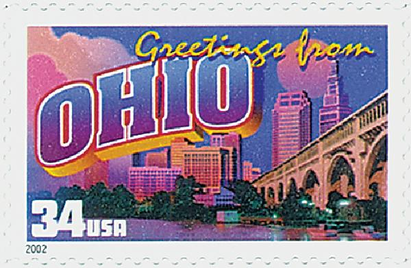 2002 34c Greetings From America: Ohio