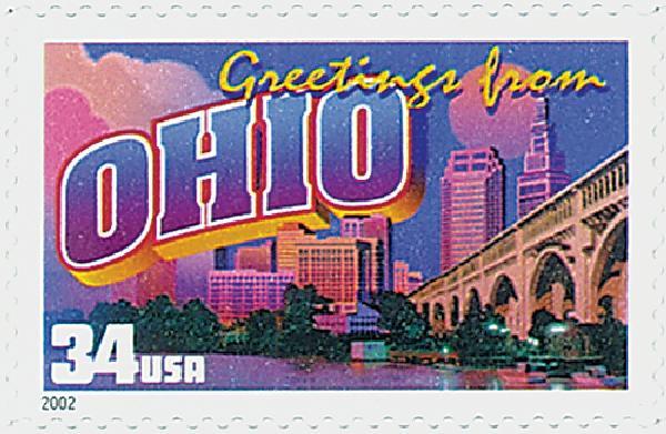 2002 34c Greetings From America: Ohio