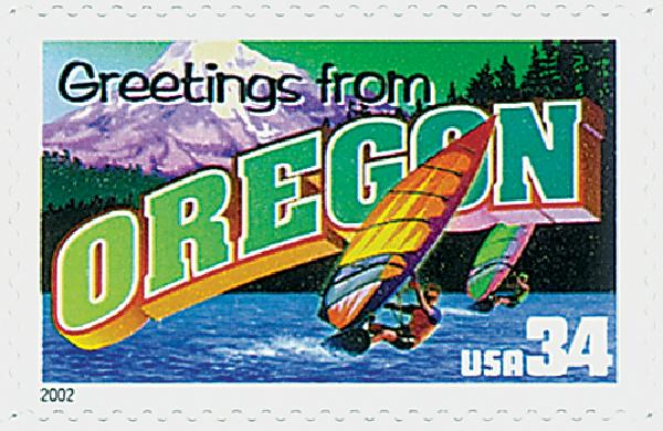 2002 34c Greetings From America: Oregon