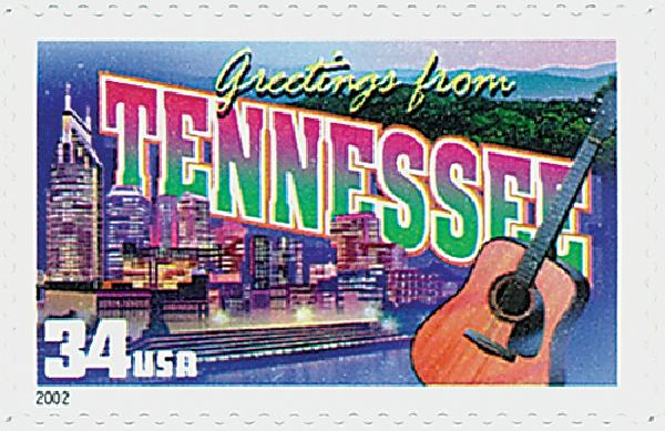 2002 34c Greetings From America: Tennessee