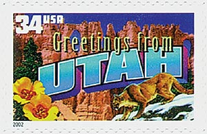 2002 34c Greetings From America: Utah