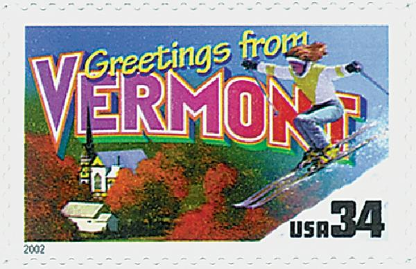 2002 34c Greetings From America: Vermont