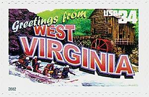 2002 34c Greetings From America: West Virginia