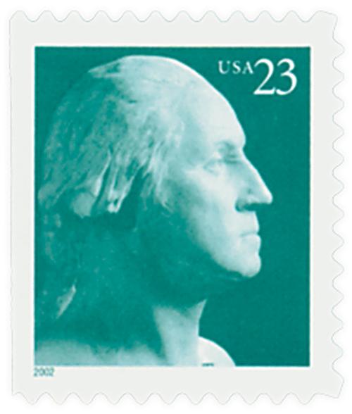 2002 23c George Washington, perf 11 1/4, booklet single