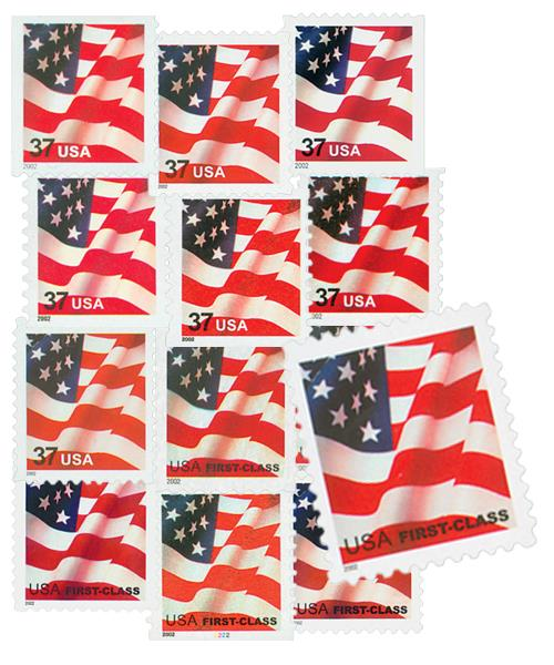 2002 US Flags, collection of 13 stamps
