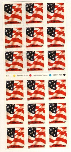 2002 37c Flag, non-denom, s/a