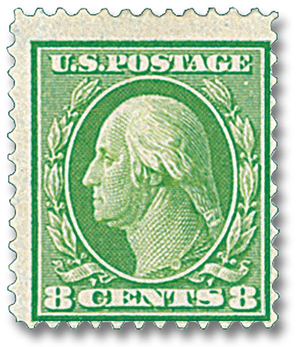 Complete Set, 1909 8c Washington, Olive Green