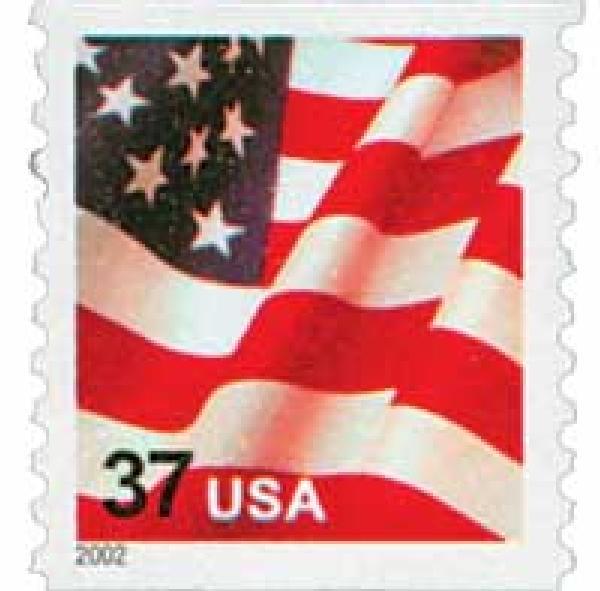 2002 37c Flag, coil