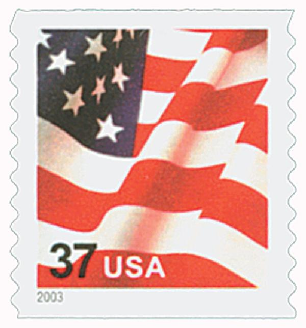 2003 37c Flag, coil, no star points