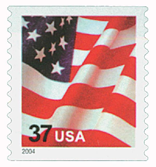 2004 37c Flag, 11 3/4 vert