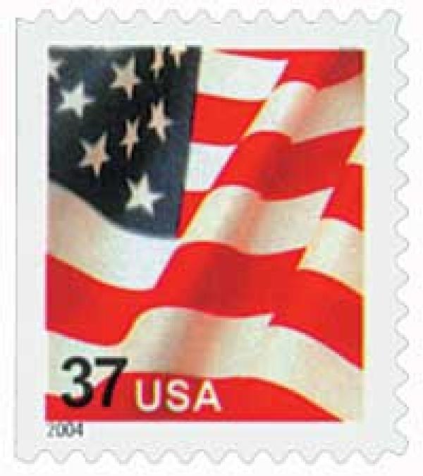 2004 37c Flag, bklt, 11 1/4 x 11