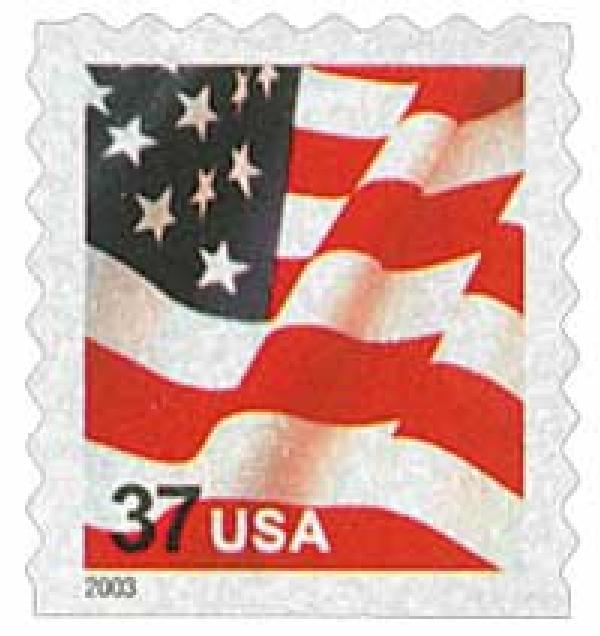 2003 37c Flag, ATM booklet single