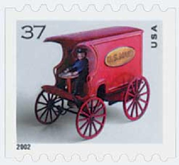 2002 37c Antique Toys: US Mail Wagon, coil