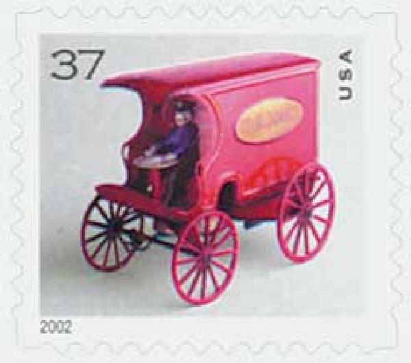 2002 37c U.S Mail Wagon, bklt sgl, s/a