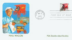 2003 37c Mail Wagon PSA Booklet FDC