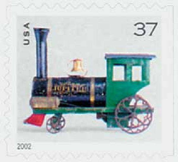 2002 37c Steam Locomotive, bklt sgl, s/a
