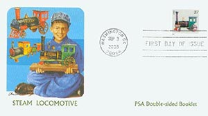 2003 37c Locomotive PSA Booklet FDC