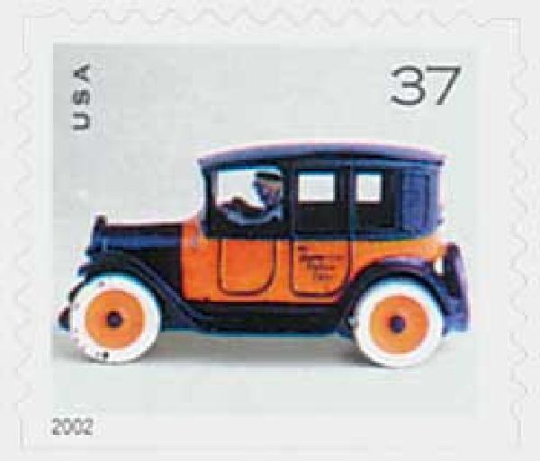 2002 37c Antique Toys: Taxi Cab, booklet single