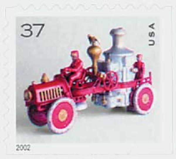 2002 37c Antique Toys: Fire Engine, booklet single