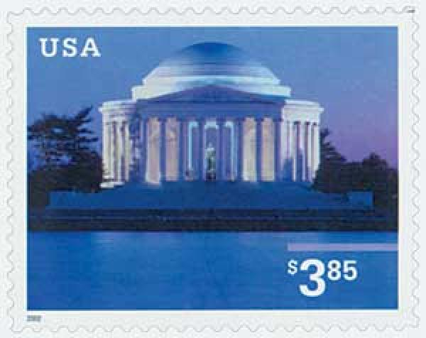 2002 $3.85 Jefferson Memorial, s/a