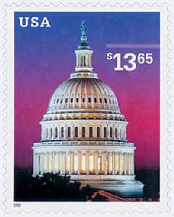 2002 $13.65 U.S. Capitol Dome, Express Mail
