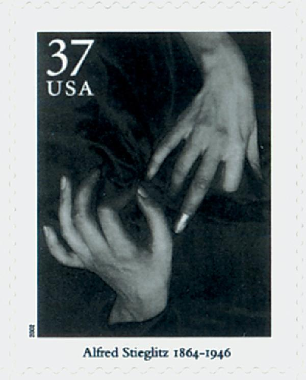 U.S. #3649h Stieglitz stamp from the Masters of American Photography sheet.