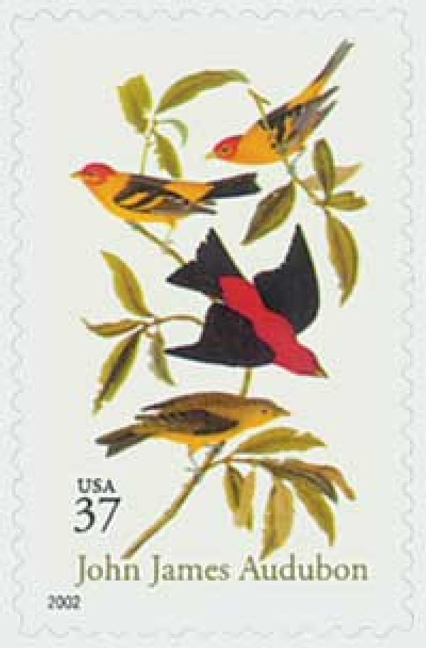 2002 37c John James Audubon, s/a