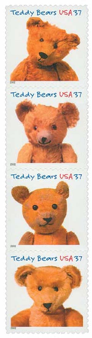 2002 37c Teddy Bears
