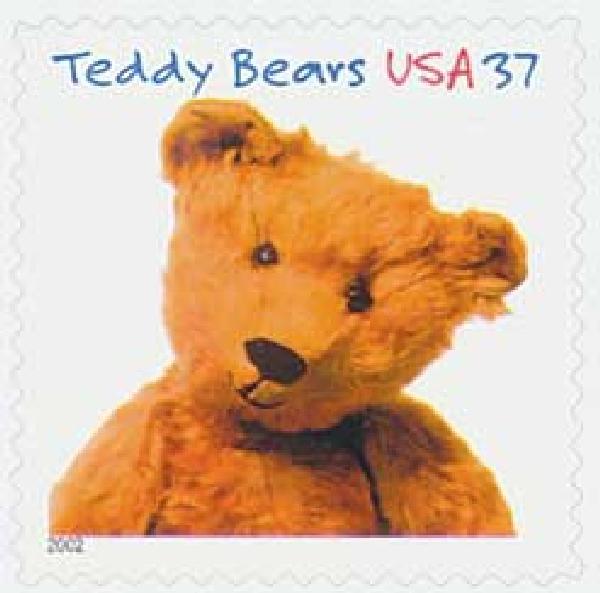 2002 37c Teddy Bears: Bruin