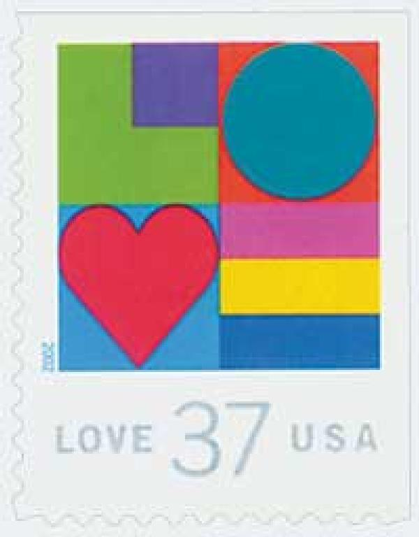 2002 37c Love Series: Multicolor Love
