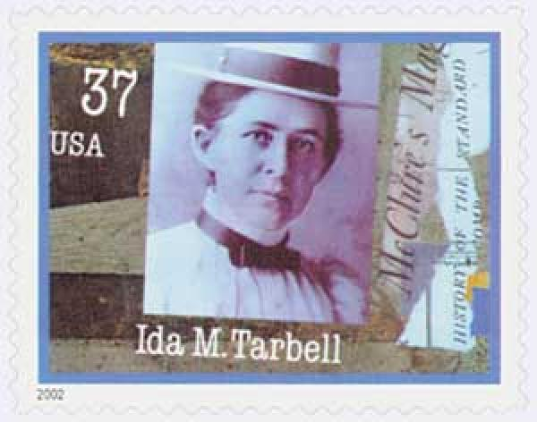 2002 37c Women in Journalism: Ida M. Tarbell