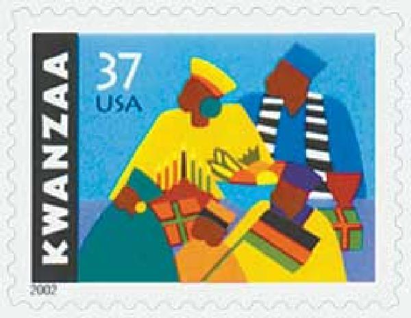 2002 37c Kwanzaa