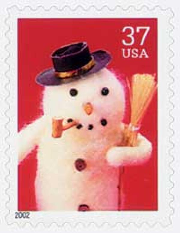 2002 37c Contemporary Christmas: Snowman with Cork Pipe