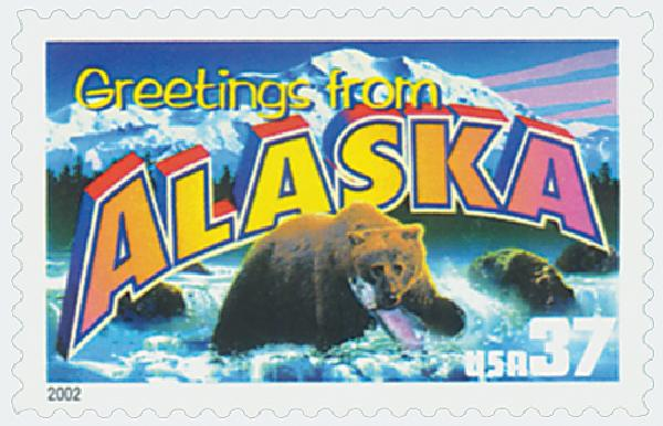 2002 37c Greetings from America: Alaska