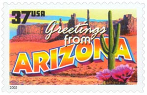 2002 37c Greetings from America: Arizona