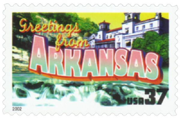 2002 37c Greetings from America: Arkansas