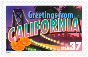2002 37c Greetings from America: California