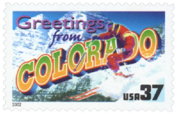 2002 37c Greetings from America: Colorado
